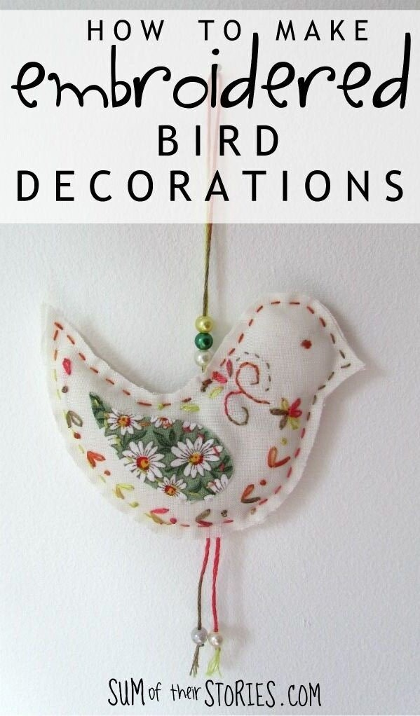 how to make bird decorations