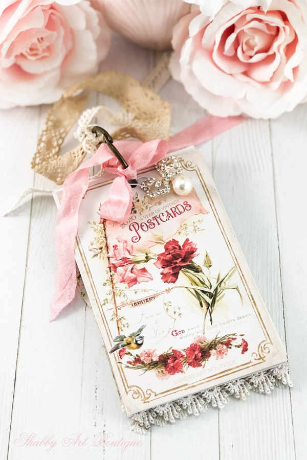 A Year of Vintage Postcards Project - April - free postcard printables at Shabby Art Boutique