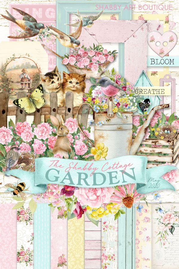 The Shabby Cottage Garden kit for The Handmade Club - May 2020 - Shabby Art Boutique
