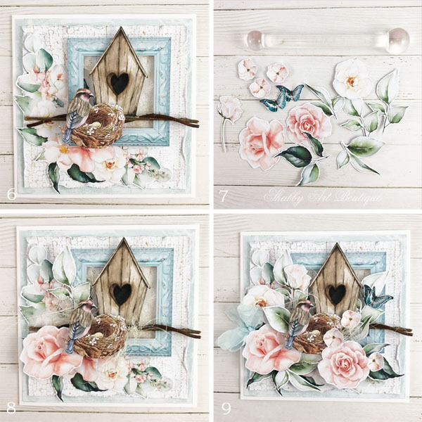 Tutorial for making the shabby cottage garden card - step 6 - Shabby Art Boutique