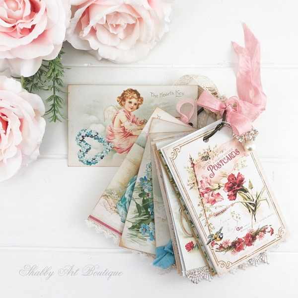 A Year of Vintage Postcards project by Shabby Art Boutique - July Printables to download