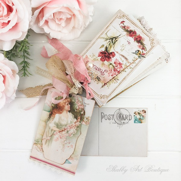 A Year of Vintage Postcards project by Shabby Art Boutique - July Printables