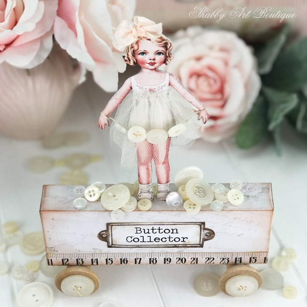 A touch of whimsy with vintage paper dolls at Shabby Art Boutique