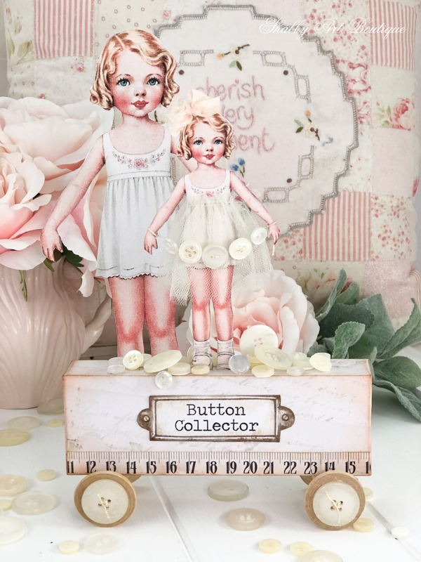 Betty Buttons - A vintage paper doll project at Shabby Art Boutique