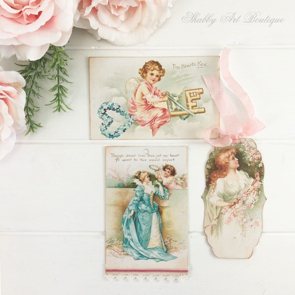 Download the July printables for the A Year of Vintage Postcards project by Shabby Art Boutique