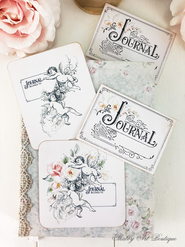 Free printable vintage bookplates for journals - download at Shabby Art Boutique