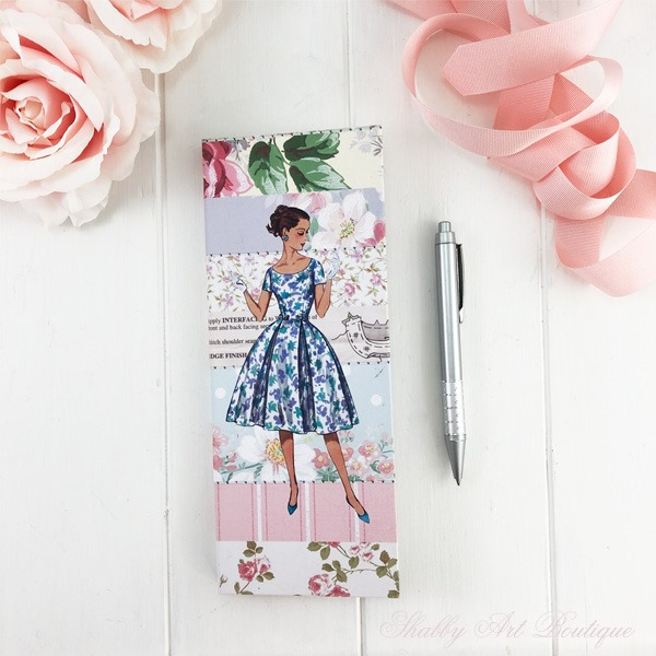 How to make a retro shabby note book holder by Shabby Art Boutique - front cover