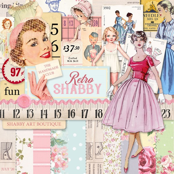July kit for the Handmade Club at Shabby Art Boutique
