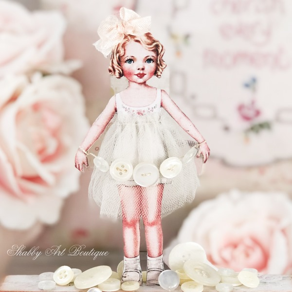 Little Betty Buttons and a touch of whimsy at Shabby Art Boutique