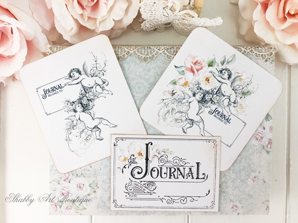 Printable vintage bookplates for journals for free download at Shabby Art Boutique