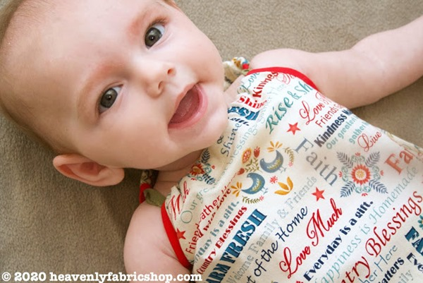 Sew Can Do Baby Bubble Romper top