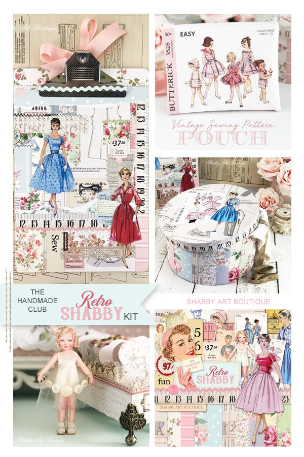 The July Retro Shabby kit for the Handmade Club at Shabby Art Boutique