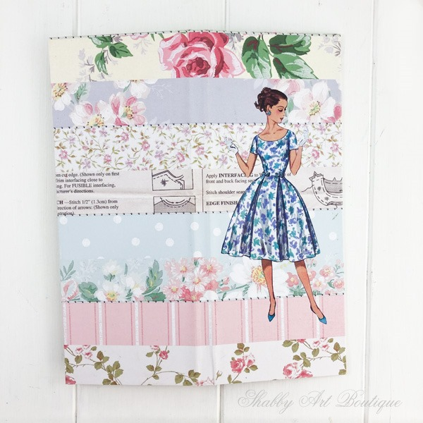 Tutorial for making the retro shabby note pad holder by Shabby Art Boutique - front cover
