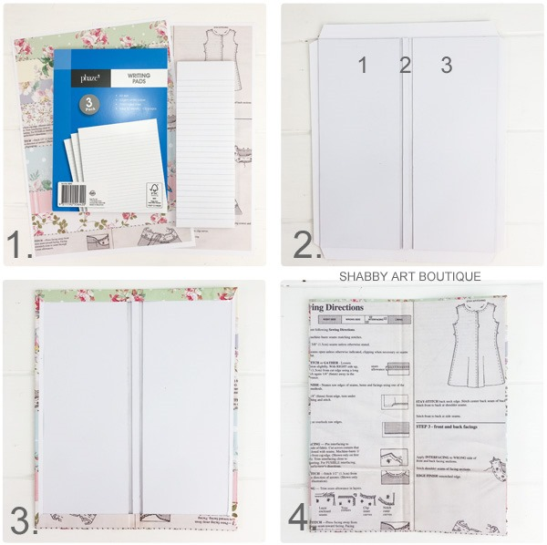 Tutorial for making the retro shabby note pad holder by Shabby Art Boutique