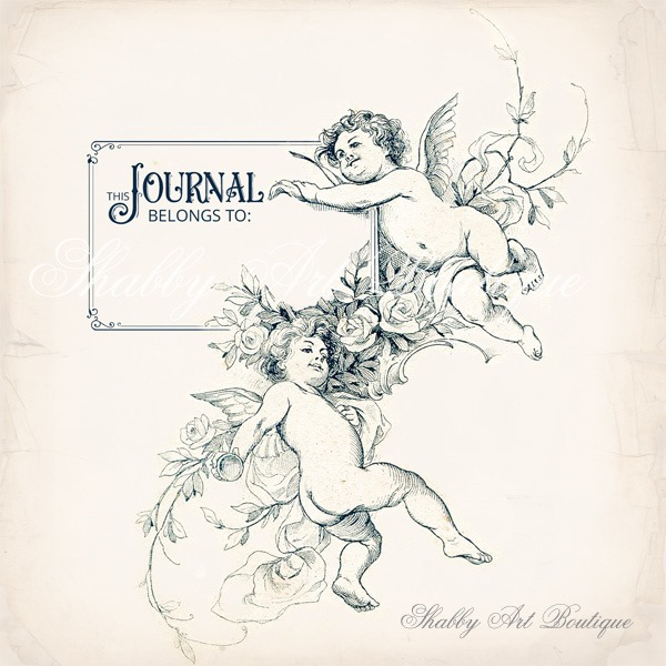 Vintage cherub bookplates from Shabby Art Boutique - free for you to download