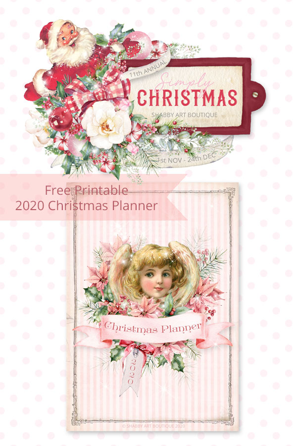 11th Annual Simply Christmas event at Shabby Art Boutique - 1st Nov to 24th Dec - free printable 2020 Christmas Planner