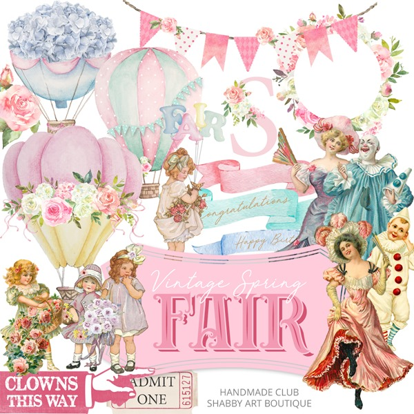 Vintage Spring Fair kit for the March Handmade Club at Shabby Art Boutique-2